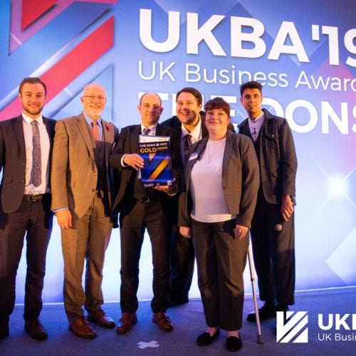 Picture of the winning Team of the Year at UKBA 2019