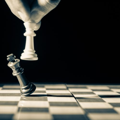 Chessboard. The final move.